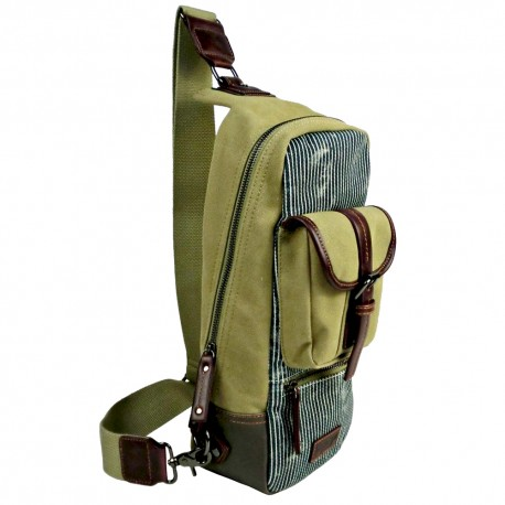 LICENCE 71195 Jumper II Canvas Cross-Body Bag, Beige