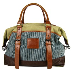 LICENCE 71195 Jumper II Canvas Overnight Bag, Beige