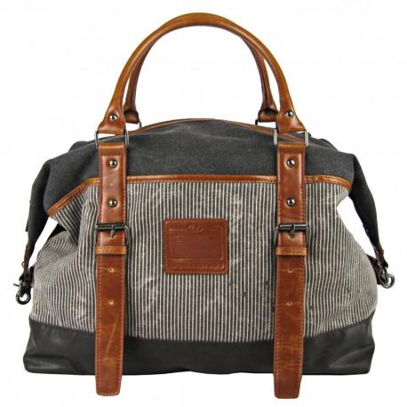 LICENCE 71195 Jumper II Canvas Overnight Bag, Grey