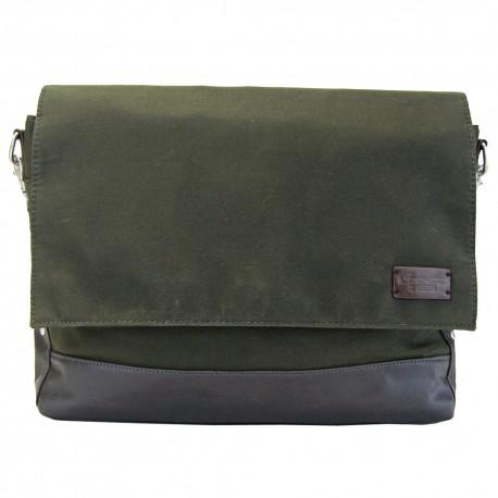 LICENCE 71195 College WaxC Messenger Bag, Khaki