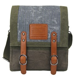 LICENCE 71195 Jumper Canvas MV Messenger Bag, Khaki