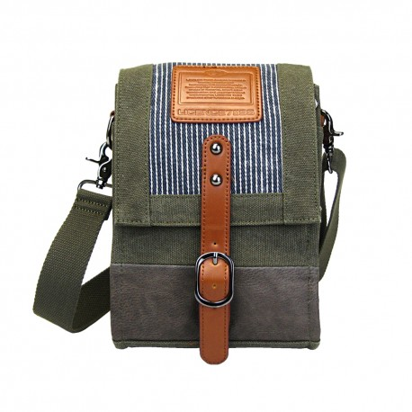 LICENCE 71195 Jumper Canvas SV Shoulder Bag, Khaki
