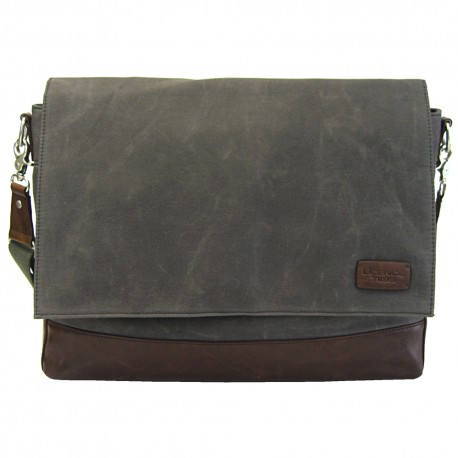 LICENCE 71195 College WaxC Messenger Bag, Grey
