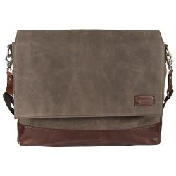 LICENCE 71195 College WaxC Messenger Bag, Brown