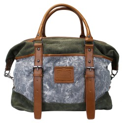 LICENCE 71195 Jumper II Canvas Overnight Bag, Khaki