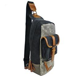 LICENCE 71195 Jumper II Canvas Cross-Body Bag, Grey