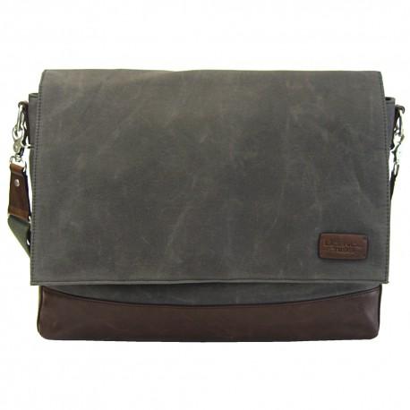 LICENCE 71195 College WaxC Messenger Bag, Grey